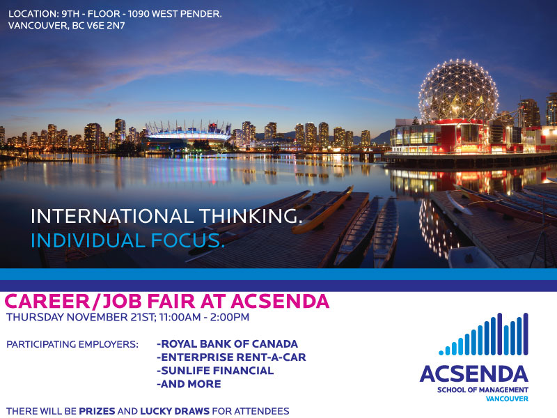 Acsenda Career Fair 2013 poster